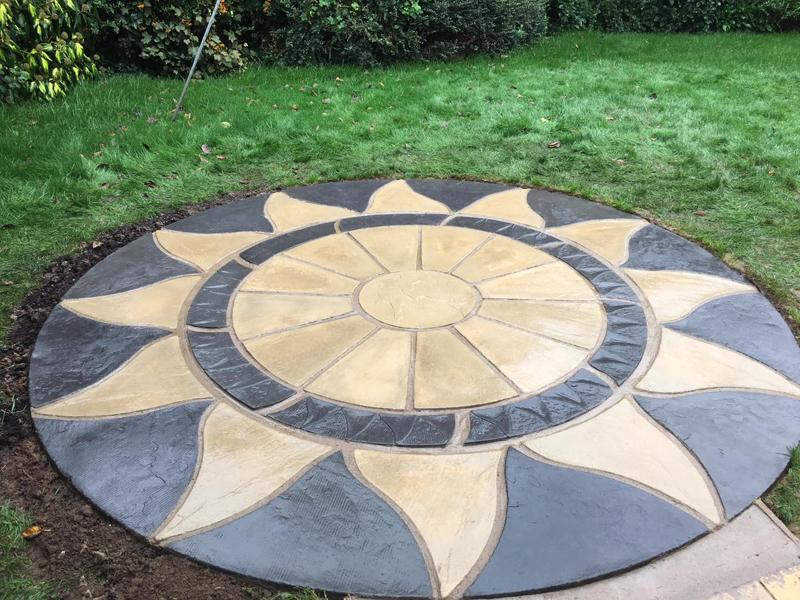 Total Home & Garden Handyman Services | Handyman Crewe | Patio Laying | Aztec Circular Sun Patio Laying 3