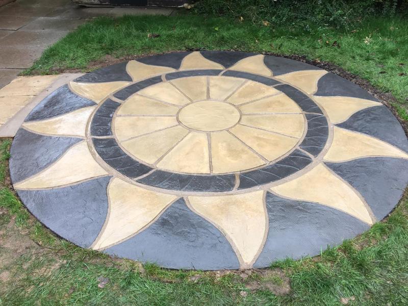 Total Home & Garden Handyman Services | Handyman Crewe | Patio Laying | Aztec Circular Sun Patio Laying 1